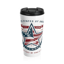 Load image into Gallery viewer, American Independence, Land of the Free | Stainless Steel Travel Mug