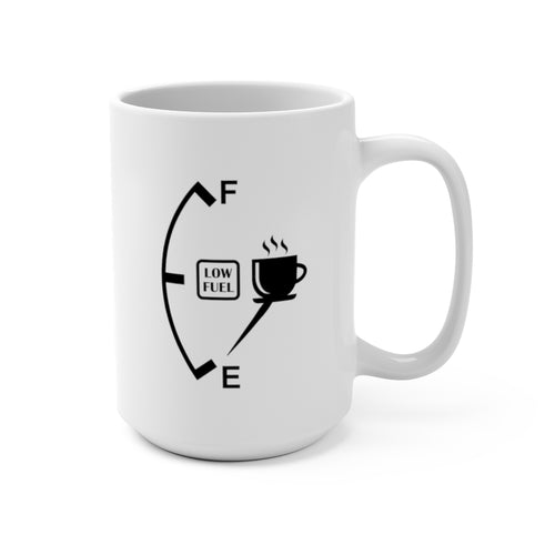 Coffee Fuel Gage | White Ceramic Mug