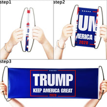 Load image into Gallery viewer, Hand Held Retractable Trump Flag