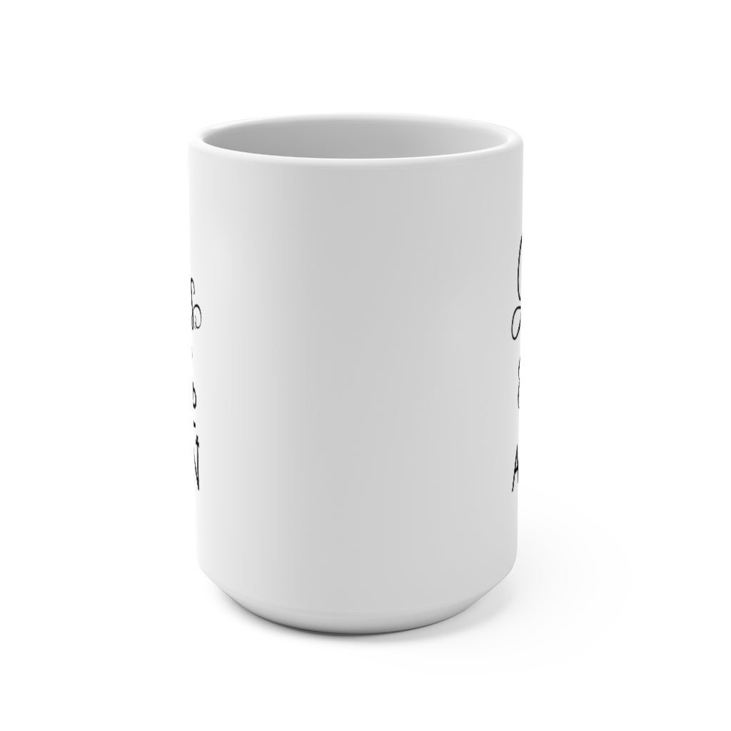 Jesus & Coffee, Amen | White Ceramic Mug