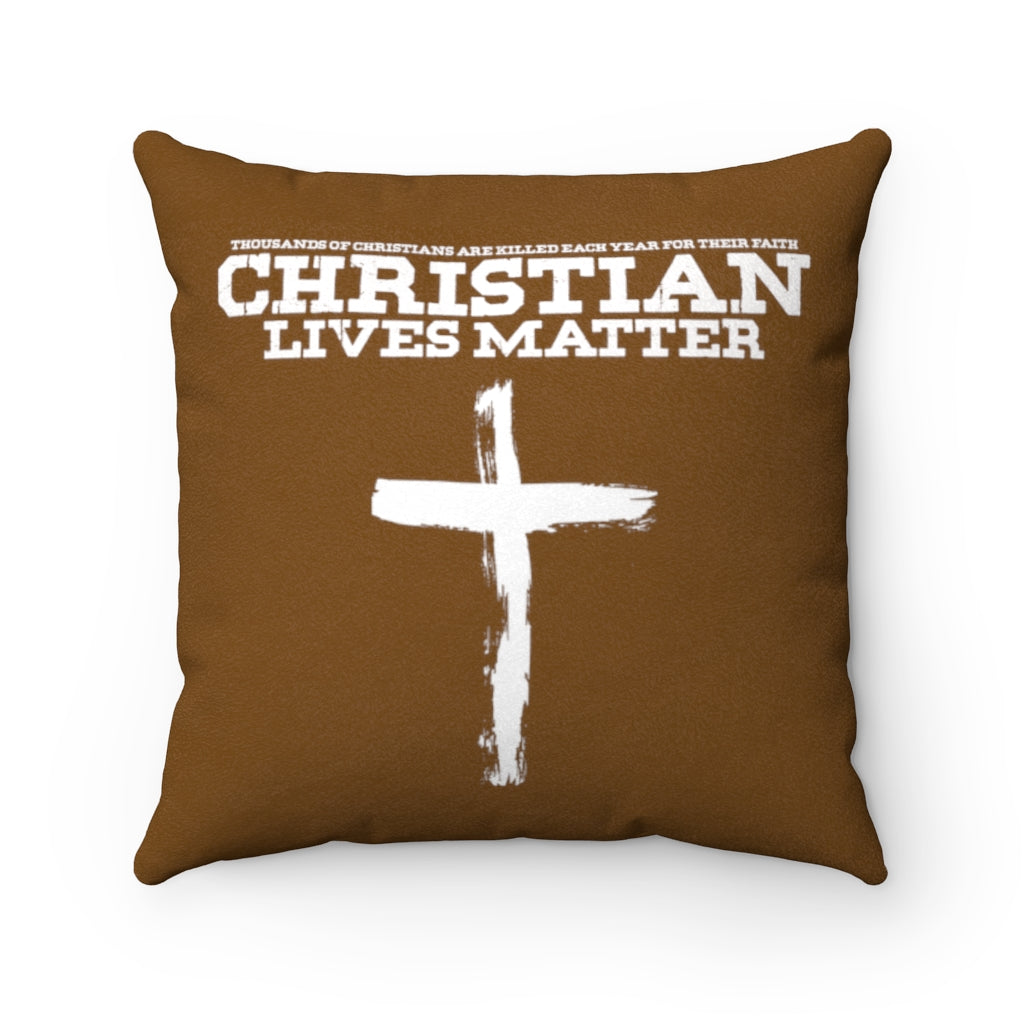 "Christian Lives Matter | 14"" Faux Suede Pillow"