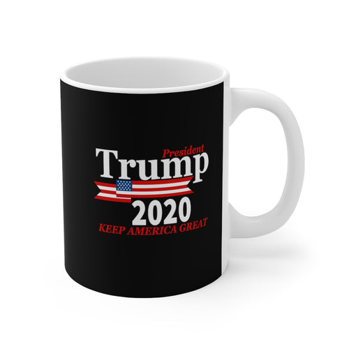 'Trump 2020' | Black 11oz Mug