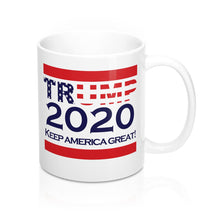 Load image into Gallery viewer, 'Trump 2020' White 11oz Mug