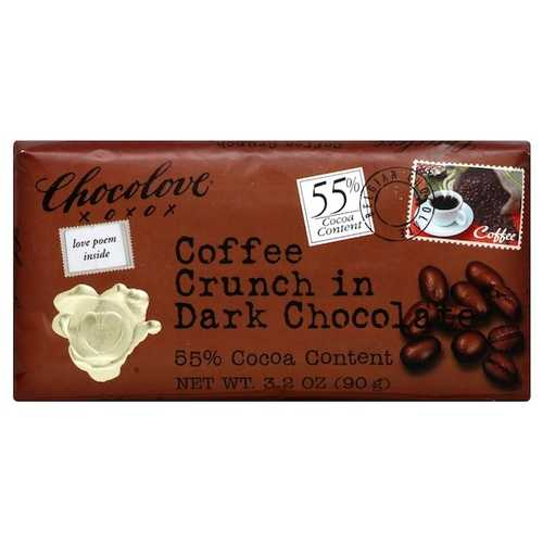 Chocolove Lov Coffee Dark Chocolate Bar (12x3.2OZ )