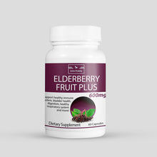 Load image into Gallery viewer, Elderberry Fruit Plus – 600mg – 60 Caps