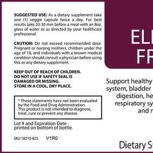 Elderberry Fruit Plus – 600mg – 60 Caps
