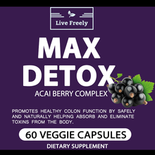 Load image into Gallery viewer, All Natural Max Detox – 60 Caps