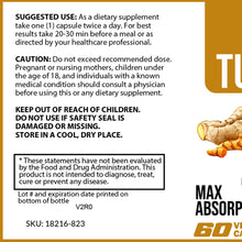 Load image into Gallery viewer, Turmeric w/Ginger – 60 Caps