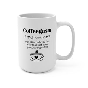Coffeegasm | White Ceramic Mug