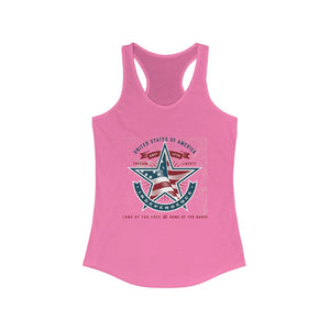 American Independence, Land of the Free | Women's Ideal Racerback Tank
