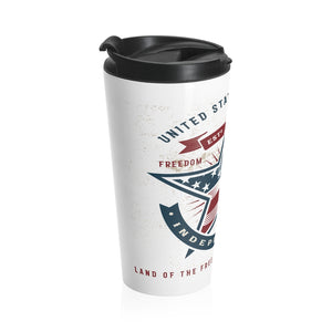 American Independence, Land of the Free | Stainless Steel Travel Mug
