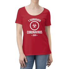Load image into Gallery viewer, Coronavirus Survivor | Women's Scoop Neck T-shirt