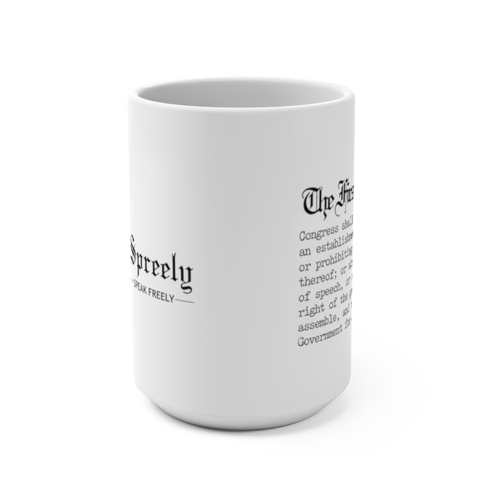 The First Amendment - Spreely Mug