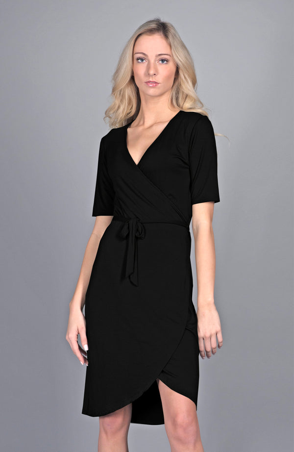 Black Wrap Dress | Limited Edition Preorder Price | The Biodegradable Collection