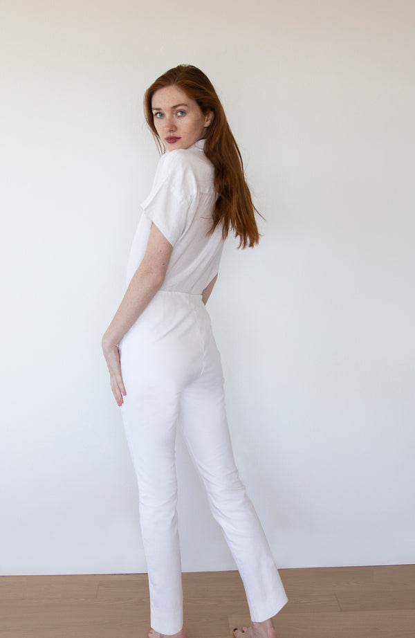 White Organic Cotton Pants | Limited Edition Preorder Price | The Biodegradable Collection