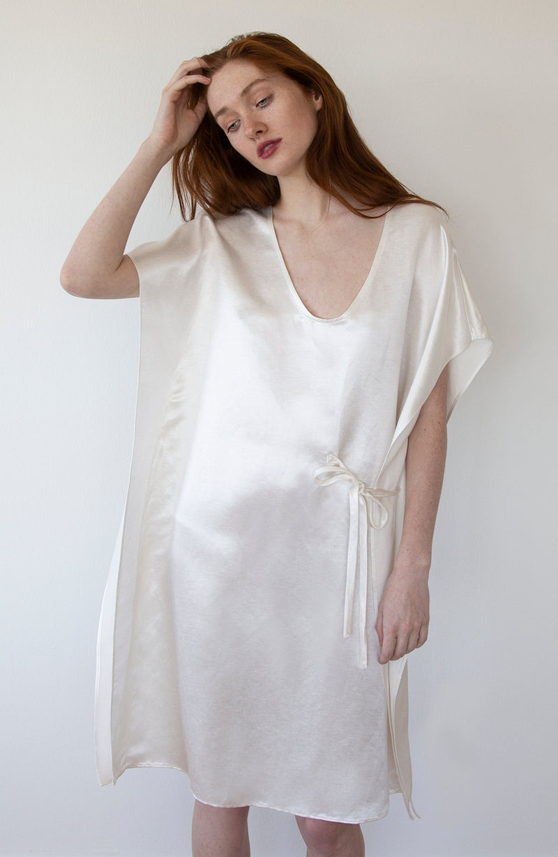Undyed Silk and Linen Dress | The Compostable Collection | Available Now