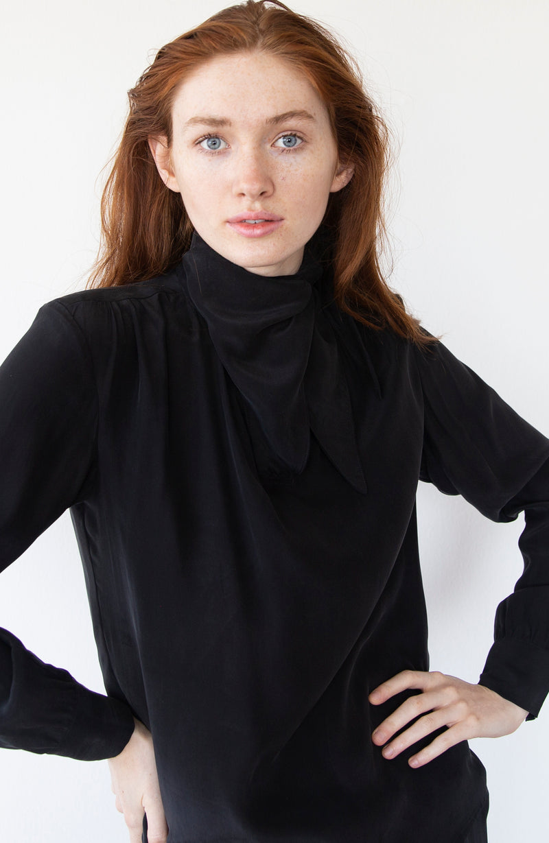 Black Silk Blouse | Limited Edition Preorder Price | The Biodegradable Collection