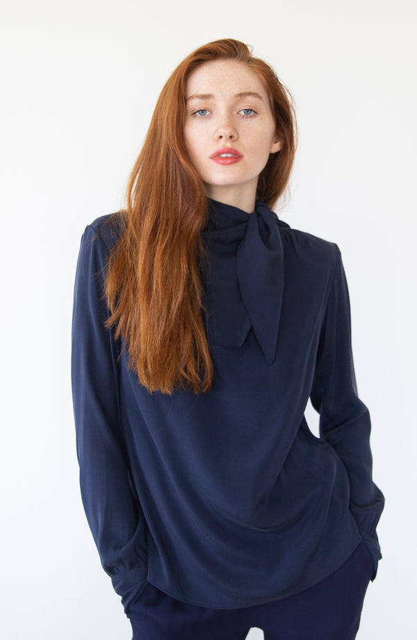 Blue Silk Blouse | Limited Edition Preorder Price | The Biodegradable Collection