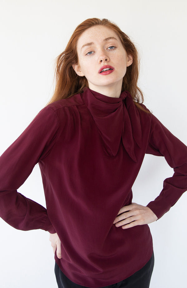 Cabernet Silk Blouse | Limited Edition Preorder Price | The Biodegradable Collection