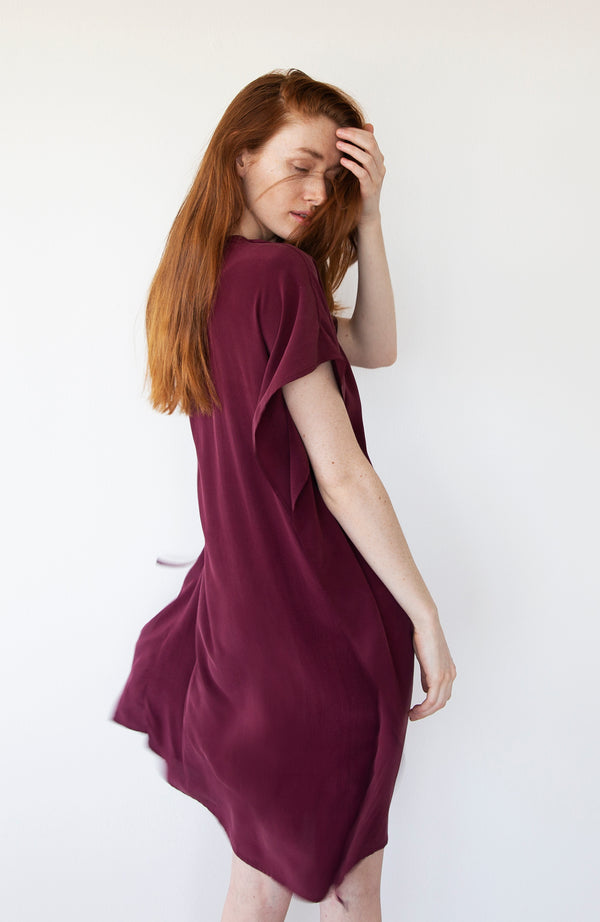 Cabernet Silk Dress | Limited Edition Preorder Price | The Biodegradable Collection