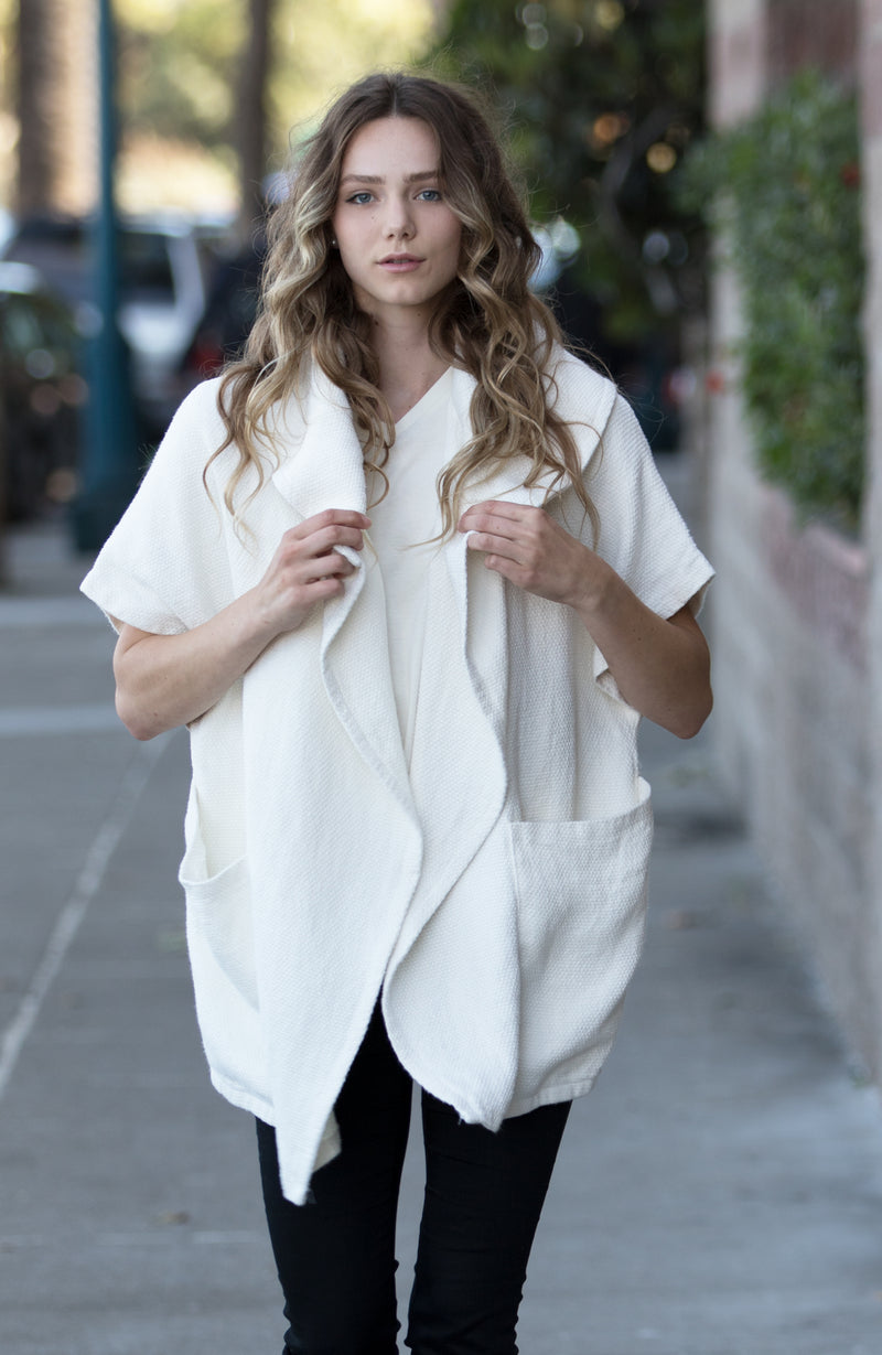 White Hemp Cardigan | Limited Edition Preorder Price | The Compostable Collection