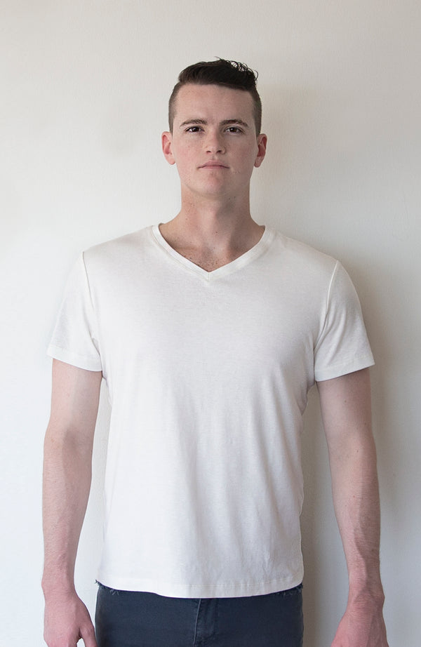 Organic Cotton and Hemp V-neck Shirt | The Compostable Collection | Sold Out