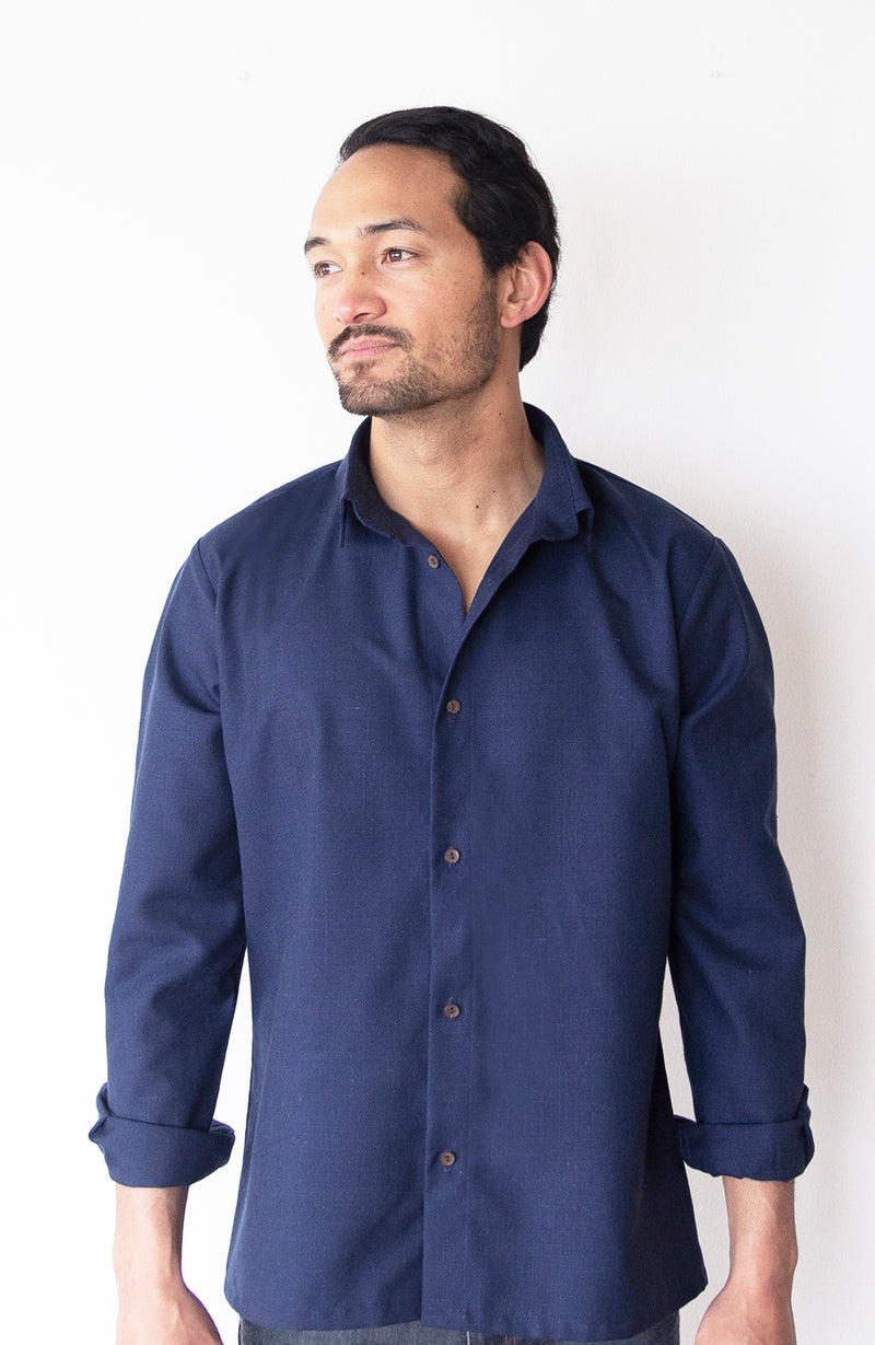 Linen and Silk Slim Fit Shirt | The Biodegradable Collection | Limited Edition Preorder Price