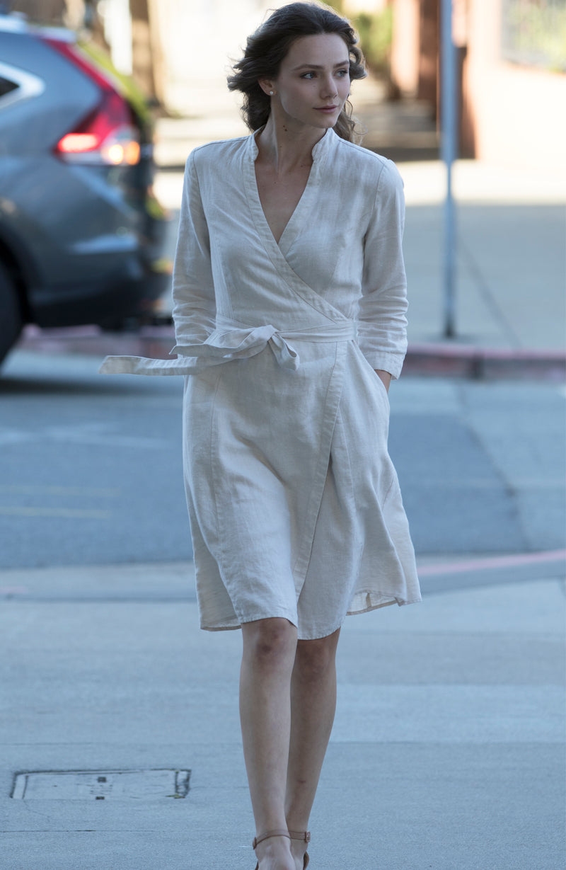 Linen Wrap Dress | The Compostable Collection | Limited Edition Preorder Price