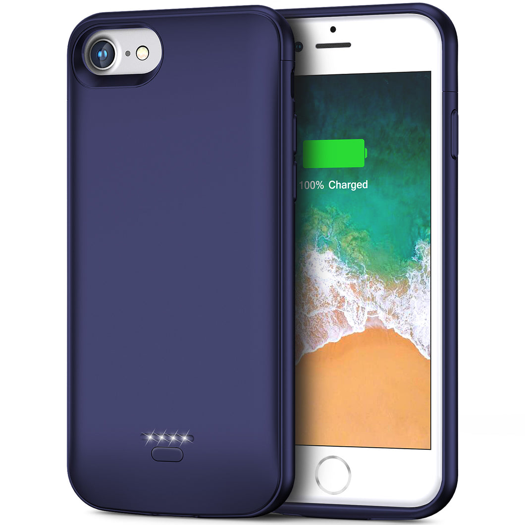 iPhone 6 6s Battery Case, 4000mAh Portable Protective Charging Case for iPhone 6 6s(4.7 inch) Extended Battery Charger Case (Blue)