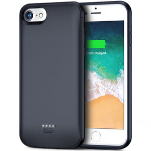 iPhone 6 6s Battery Case, 4000mAh Portable Protective Charging Case for iPhone 6 6s(4.7 inch) Extended Battery Charger Case (Midnight Black)