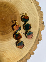 Load image into Gallery viewer, Evergreen & Cherry Droplet Earrings