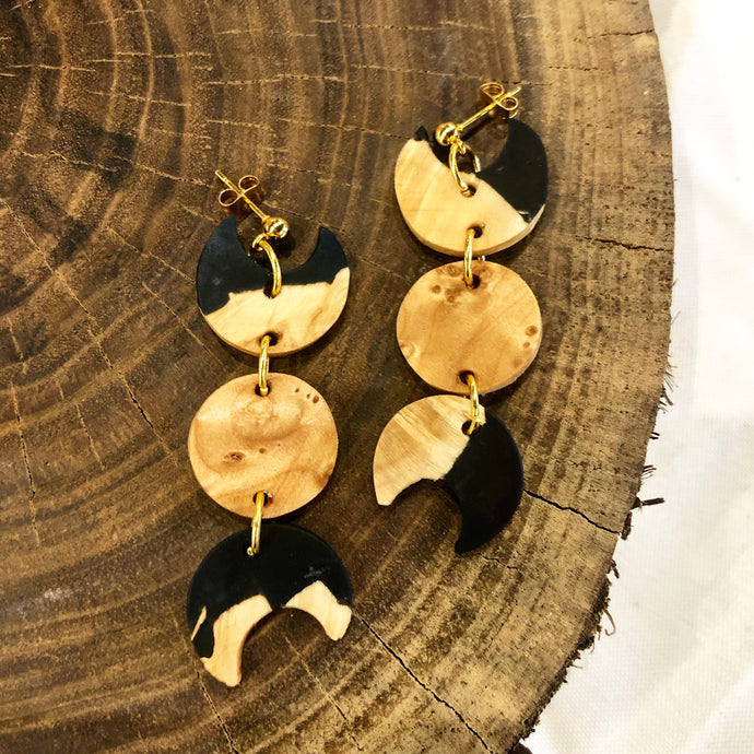Onyx Selene Earrings