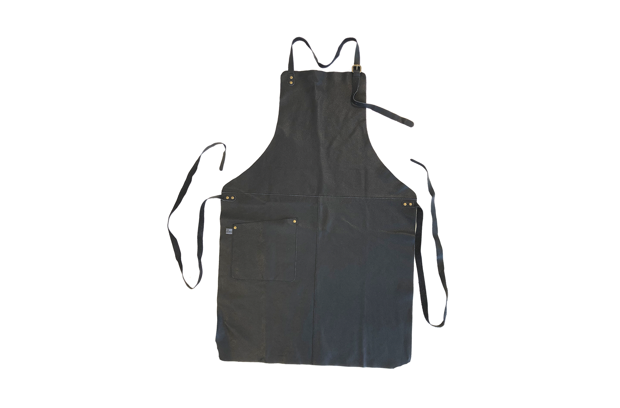 APRON - soft leather - black