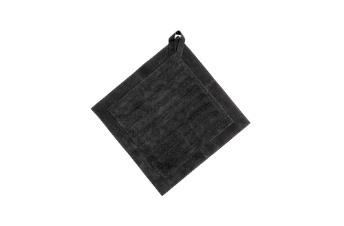Pot holder - suede - black