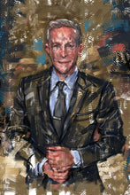 "Load image into Gallery viewer, Framed Sartorial Painting No.164 David Zaritsky of The Bond Experience, 16"" X 24"""