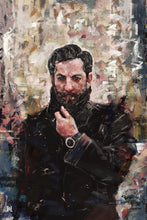 "Load image into Gallery viewer, Framed Sartorial Painting No.152 Mattew Zorpas Print, 16"" X 24"""