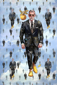 "Framed Sartorial Painting No.127 Nick Wooster, 16"" X 24"""