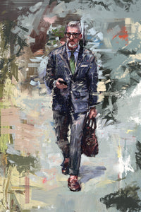 "Framed Sartorial Painting No.85 Mr.David Print, 16"" X 24"""