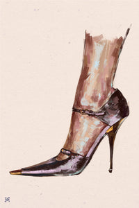 "Framed Tom Ford SATIN MARY JANE PUMP Print, 16"" X 24"""