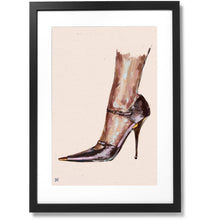 "Load image into Gallery viewer, Framed Tom Ford SATIN MARY JANE PUMP Print, 16"" X 24"""