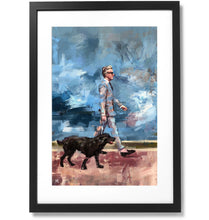 "Load image into Gallery viewer, Framed Sartorial Painting No.73 Mr.David Print, 16"" X 24"""