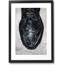 "Load image into Gallery viewer, Framed Tricker's Ilkley Wingtip Brogue Print, 16"" X 24"""