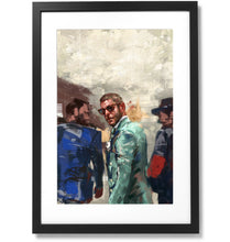 "Load image into Gallery viewer, Framed Sartorial Painting No.193 Lapo Elkann Print, 16"" X 24"""