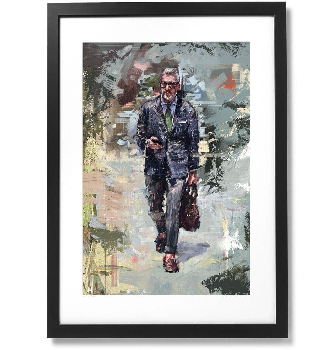 Framed Sartorial Painting No.85 Mr.David Print, 16