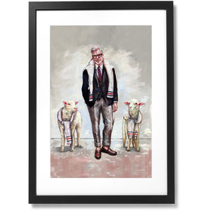 "Framed Sartorial Painting No.139 Mr.David, 16"" X 24"""