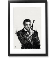 "Load image into Gallery viewer, Framed R.I.P. Sean Connery, THE first James Bond , 16"" X 24"""