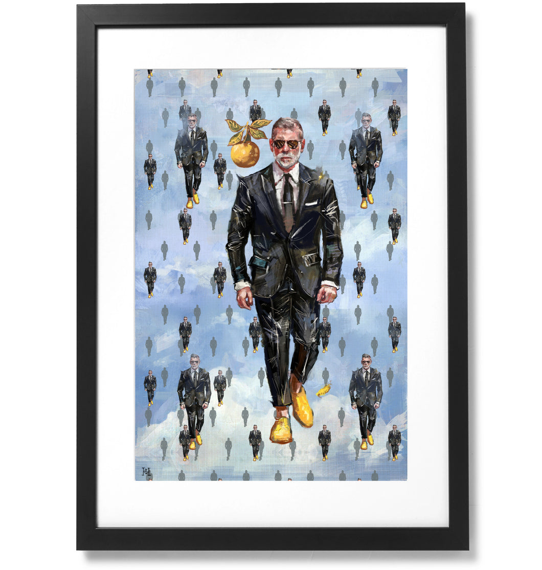 Framed Sartorial Painting No.127 Nick Wooster, 16