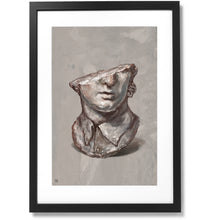 "Load image into Gallery viewer, Framed Fragmentary Colossal Head of a Youth Print, 16"" X 24"""