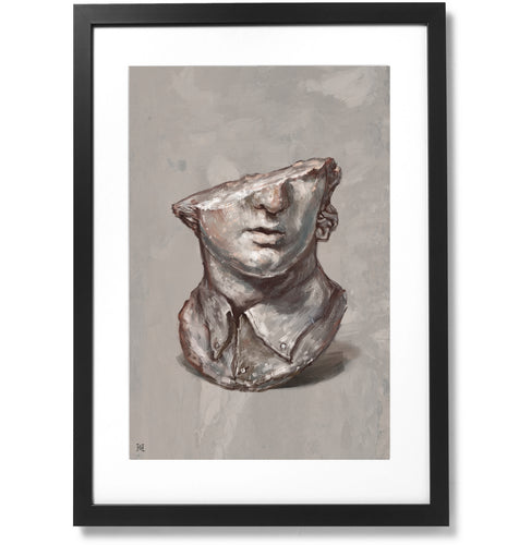 Framed Fragmentary Colossal Head of a Youth Print, 16