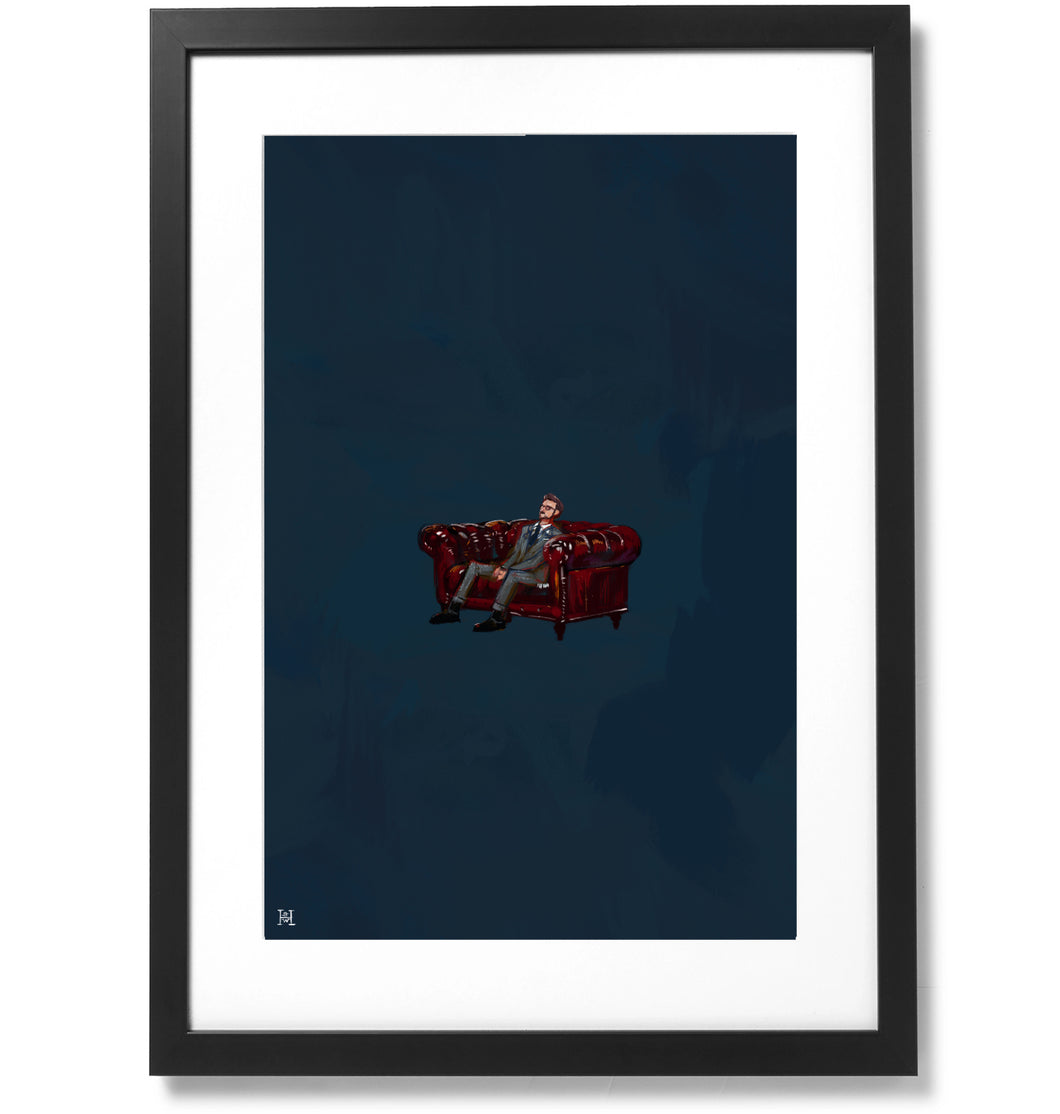 Framed Sometimes I feel like I'm all alone in this world Print, 16